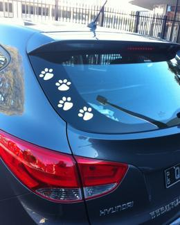 My Car Paws, Paw Stickers, Car Decals, My Car Fashion  - Pet Fashion for Your Car